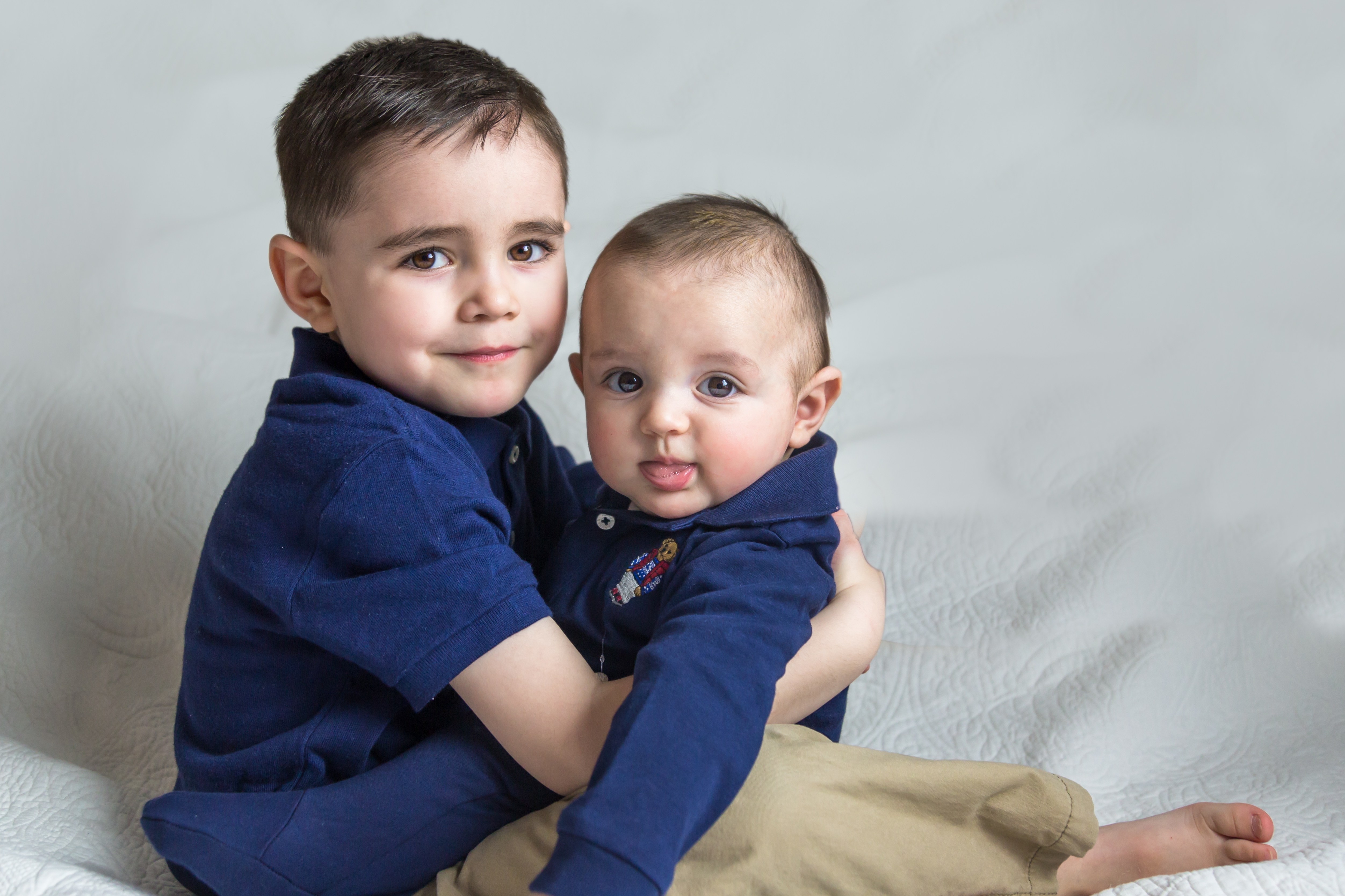 Four Months Photoshoot With A Big Brother