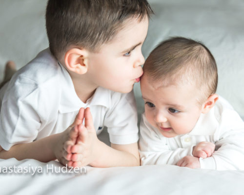 Newborn Baby Boy With Brother 5