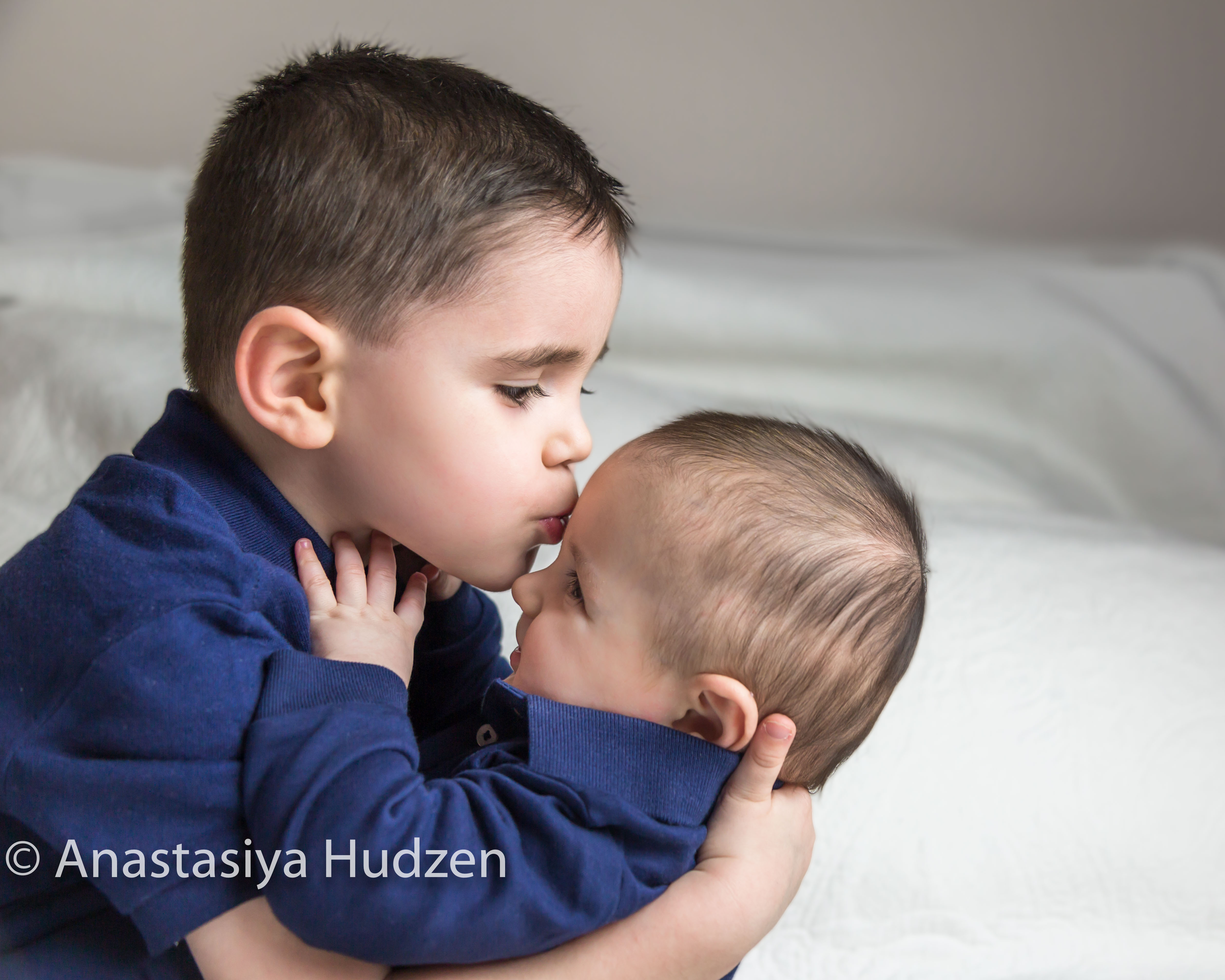Newborn baby boy with brother-7